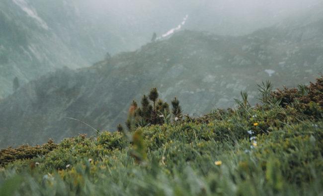 Nuage sur les montagnes suisses