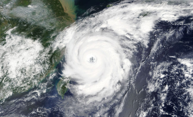 Typhoon - Elements of this image furnished by NASA