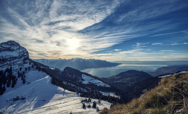 Col De Jaman, Lake Geneva, Swiss Alps