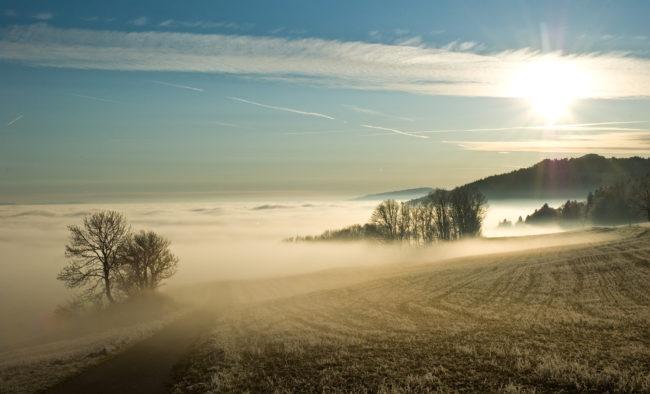 Promenade sur une mer de nuage suisse