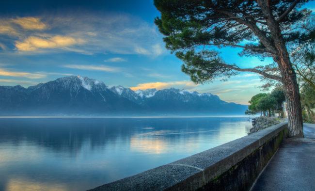 Lake Geneva Morning HDR